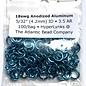 "Anodized Aluminum Rings 18ga 5/32"" Turquoise 100pcs"