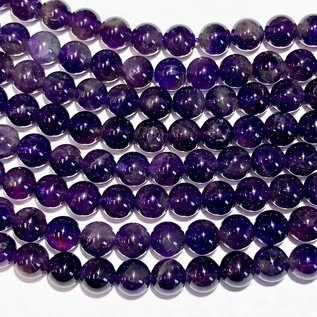 AMETHYST Grade A/B Natural 6mm Round Dark