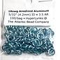 """Anodized Aluminum Rings 18ga 5/32"""" Sky Blue 100pcs"""
