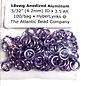 "Anodized Aluminum Rings 18ga 5/32"" Lavender 100pcs"