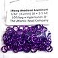 """Anodized Aluminum Rings 18ga 5/32"""" Purple 100pcs"""