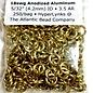 """Anodized Aluminum 18ga 5/32"""" Rings Gold 250pcs"""