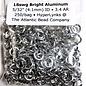 """Bright Aluminum Rings 18ga 5/32"""" 250pcs"""