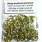 """Anodized Aluminum Rings 18ga 7/32"""" Lemon-Lime 100pcs"""
