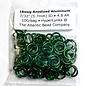 """Anodized Aluminum Rings 18ga 7/32"""" Green 100pcs"""