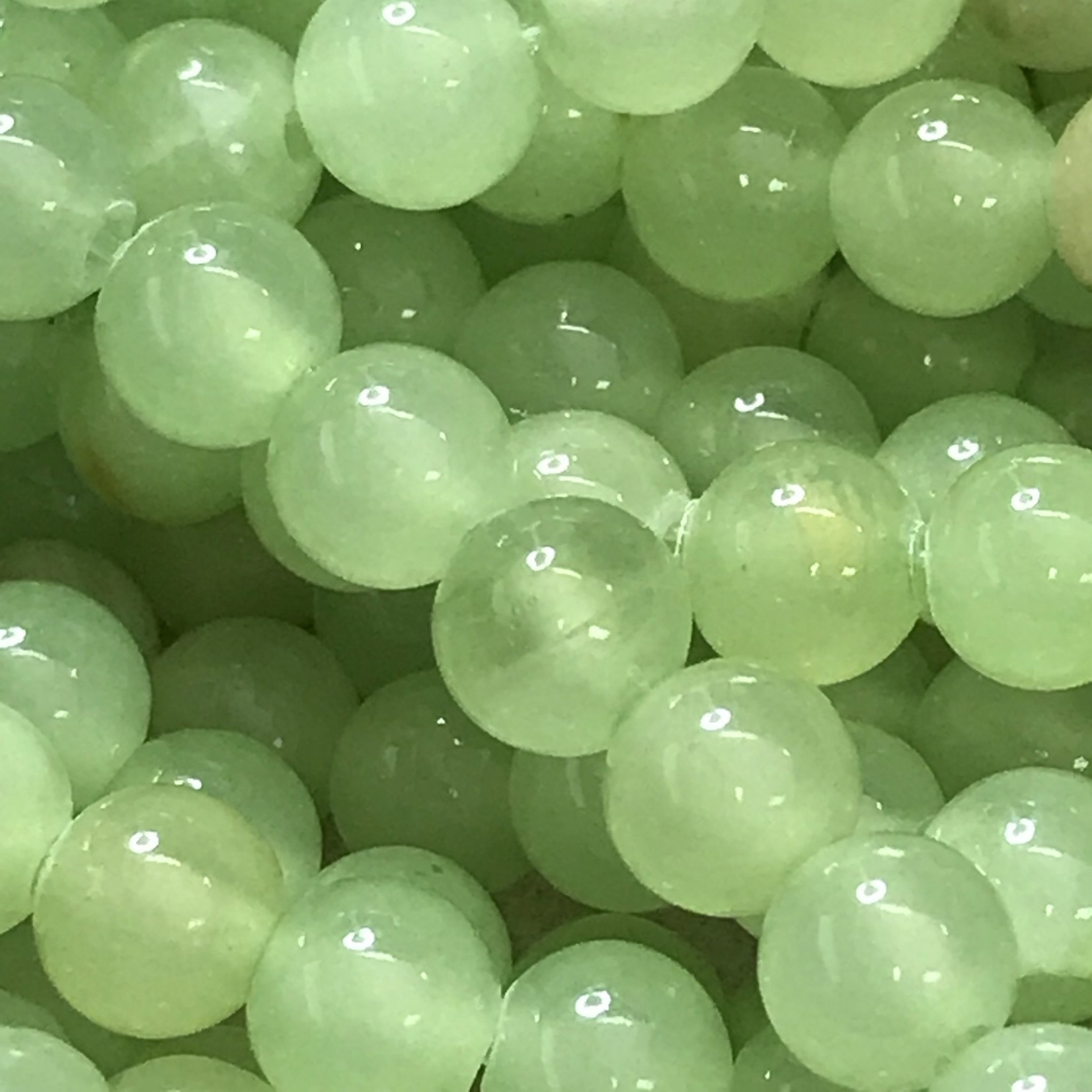 FLOWER JADE Natural Dyed 6mm Sea Green