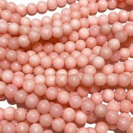 Mashan JADE Natural Dyed Pink 6mm Round