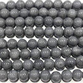 Mashan JADE Natural Dyed Grey 8mm Round
