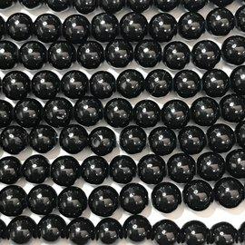 Mashan JADE Natural Dyed Black 8mm Round