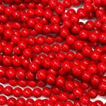 Mashan JADE Natural Dyed Red 8mm Round