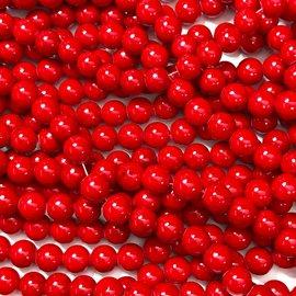 Mashan JADE Natural Dyed Red 8mm Round
