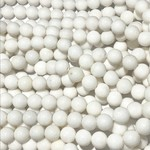 Mashan JADE Natural Dyed White 8mm Round
