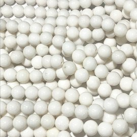 Mashan JADE Natural Dyed White 8mm Round