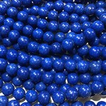Mashan JADE Natural Dyed Royal Blue 8mm Round