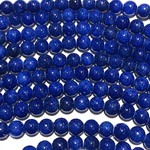 Common JADE Dyed Royal Blue 6mm Round