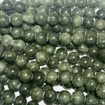 Common JADE Dark Olive Green 8mm Round