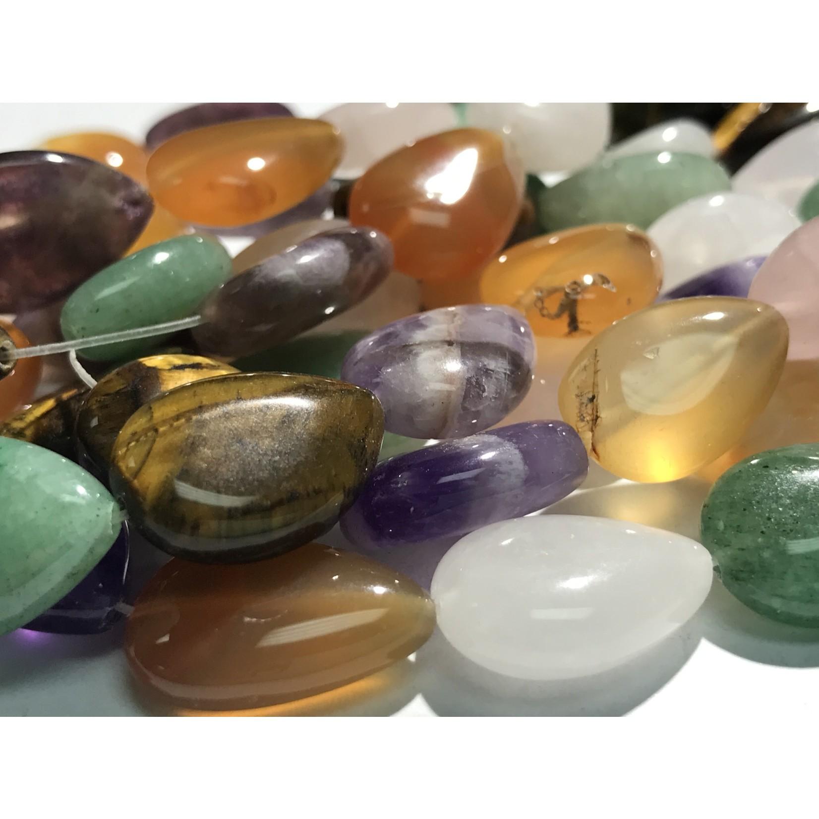 Gemstone Assorted Natural 16mm Teardrop