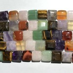 GEMSTONE Assorted Natural 16mm Square