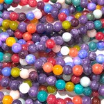 Candy JADE Natural Multi-Coloured 6mm Round