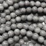 Mashan JADE Natural Dyed Grey 6mm Round