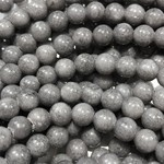 Mashan JADE Natural Dyed Grey 6mm Round