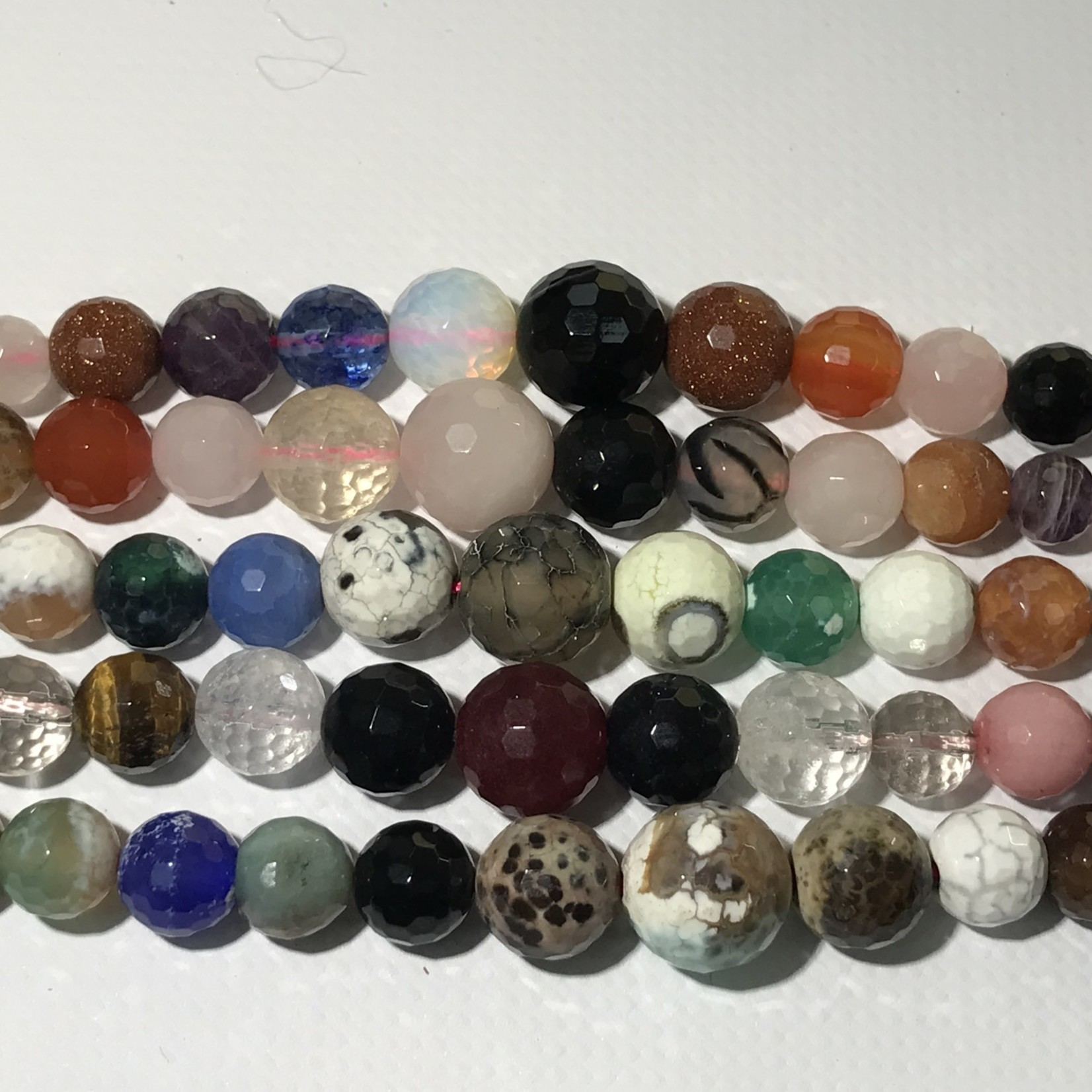 AGATE Asst Colours Graduated 6- 14mm Faceted