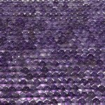Natural AMETHYST Round Beads 4mm Grade A/B