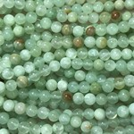 FLOWER JADE Natural Dyed Sea Green 8mm Round