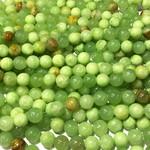 Flower Jade Natural Dyed Light Green 10mm