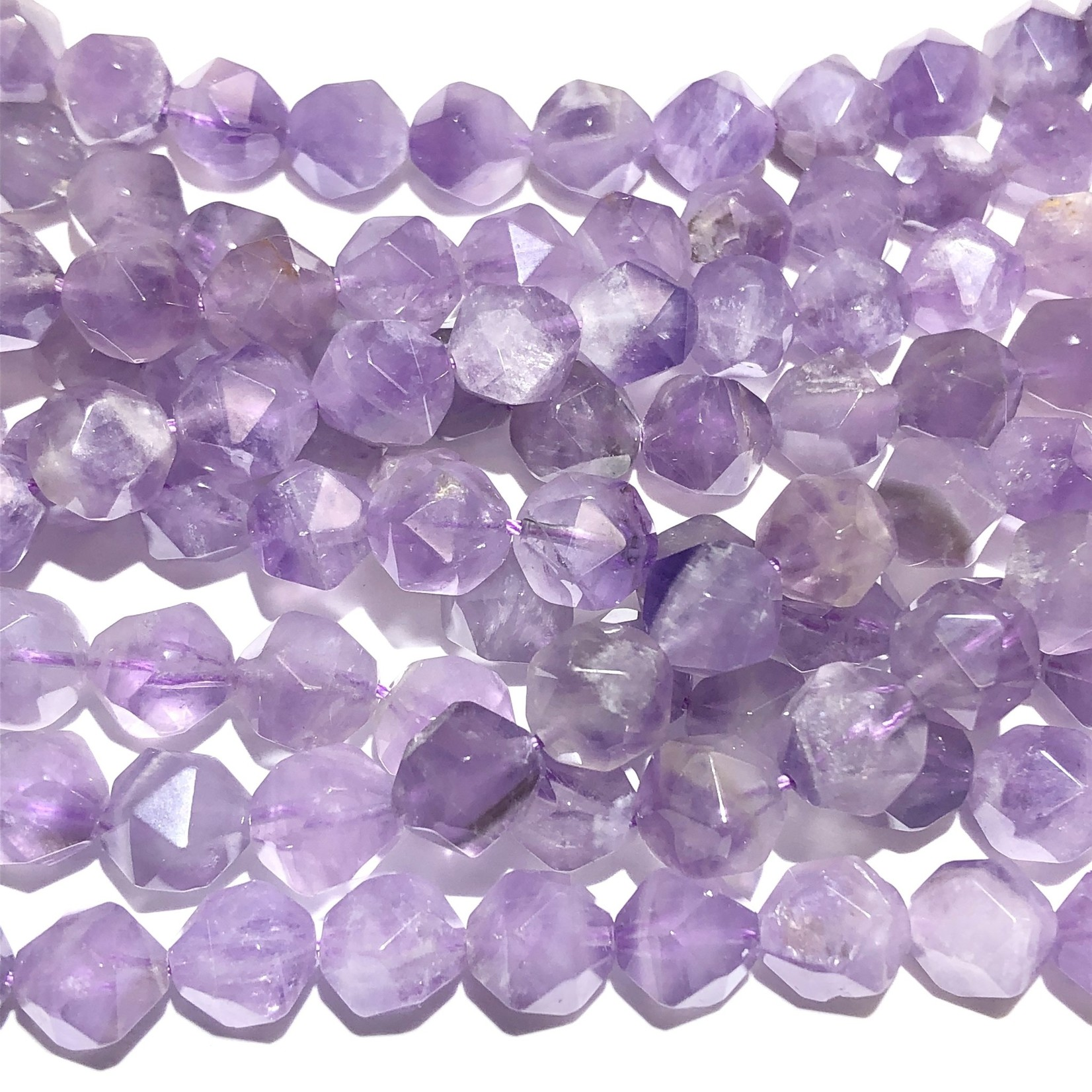 AMETHYST Natural Lilac 10mm Faceted Polygon