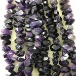 AMETHYST Grade A Faceted Nuggets 17-28mm