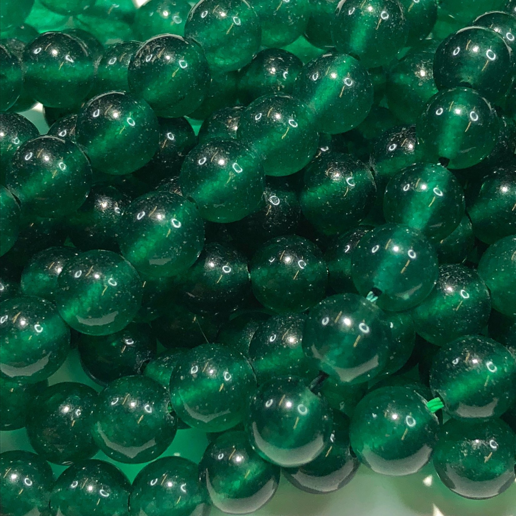 Common JADE Dyed Dark Green 8mm Round