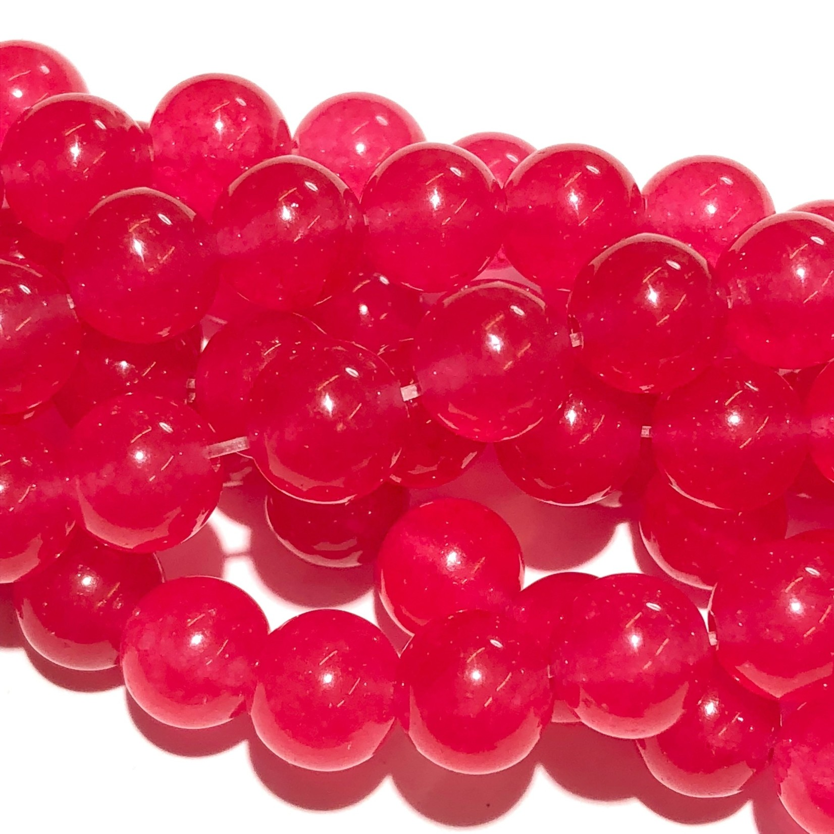 Common JADE Dyed Candy Pink 8mm Round