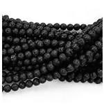 BLACK LAVA Stone Natural 6mm Round
