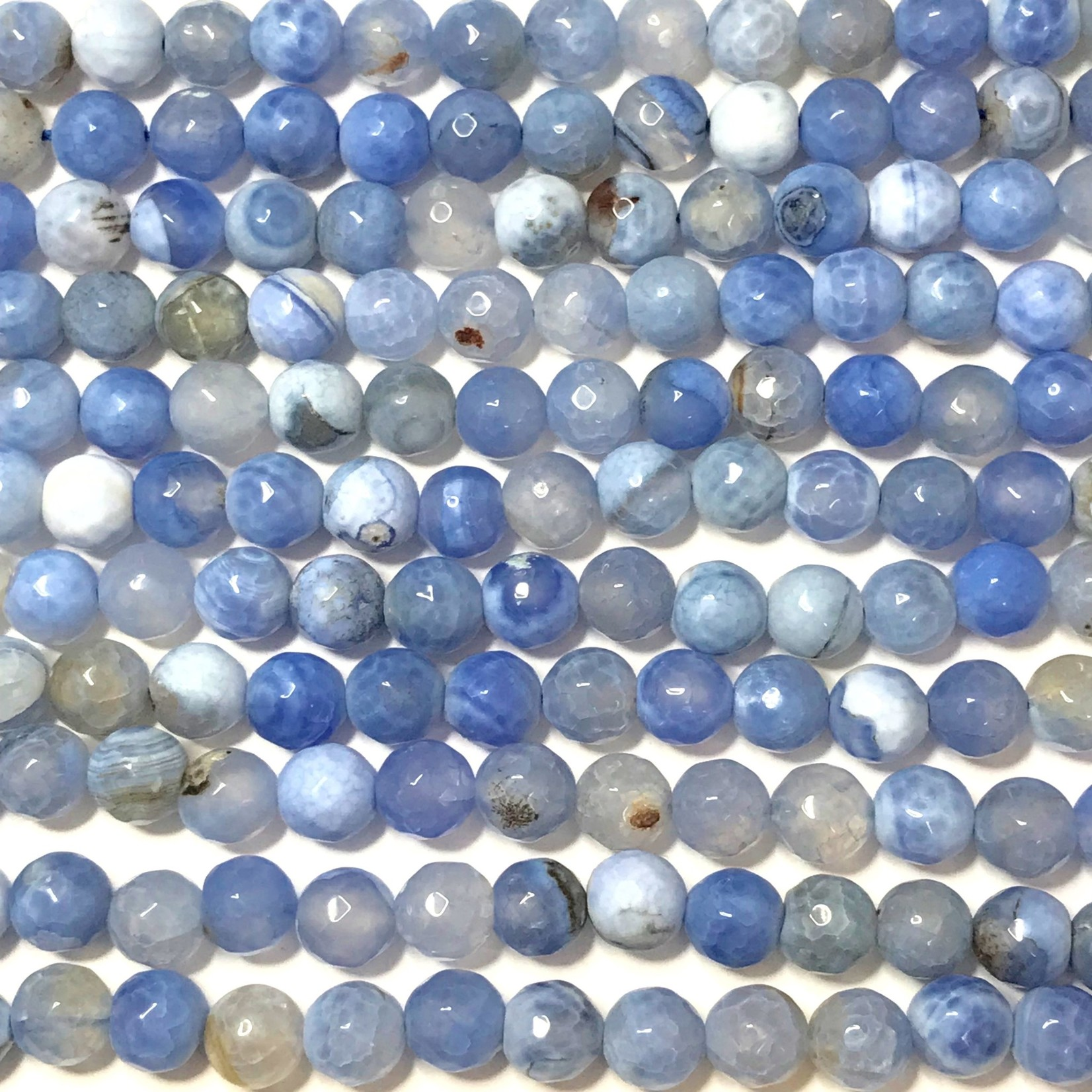 Fire AGATE Light Sky Blue 8mm Faceted