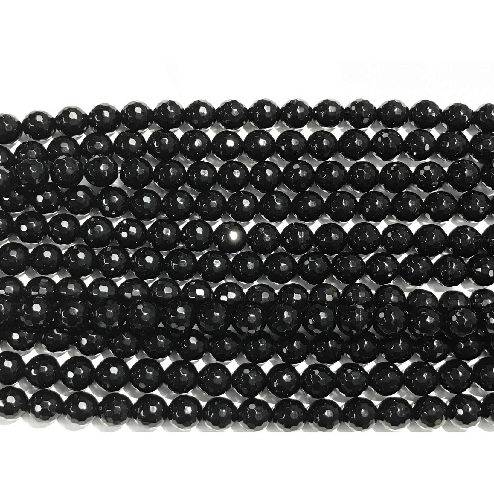 AGATE Dyed Black 8mm Faceted