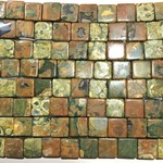 RHYOLITE (Rain Forest) Jasper 12mm Cube 1/2 Str