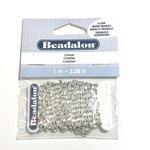 Beadalon Round Triangle Rope Chain 4.6mm Silver Plated 1m