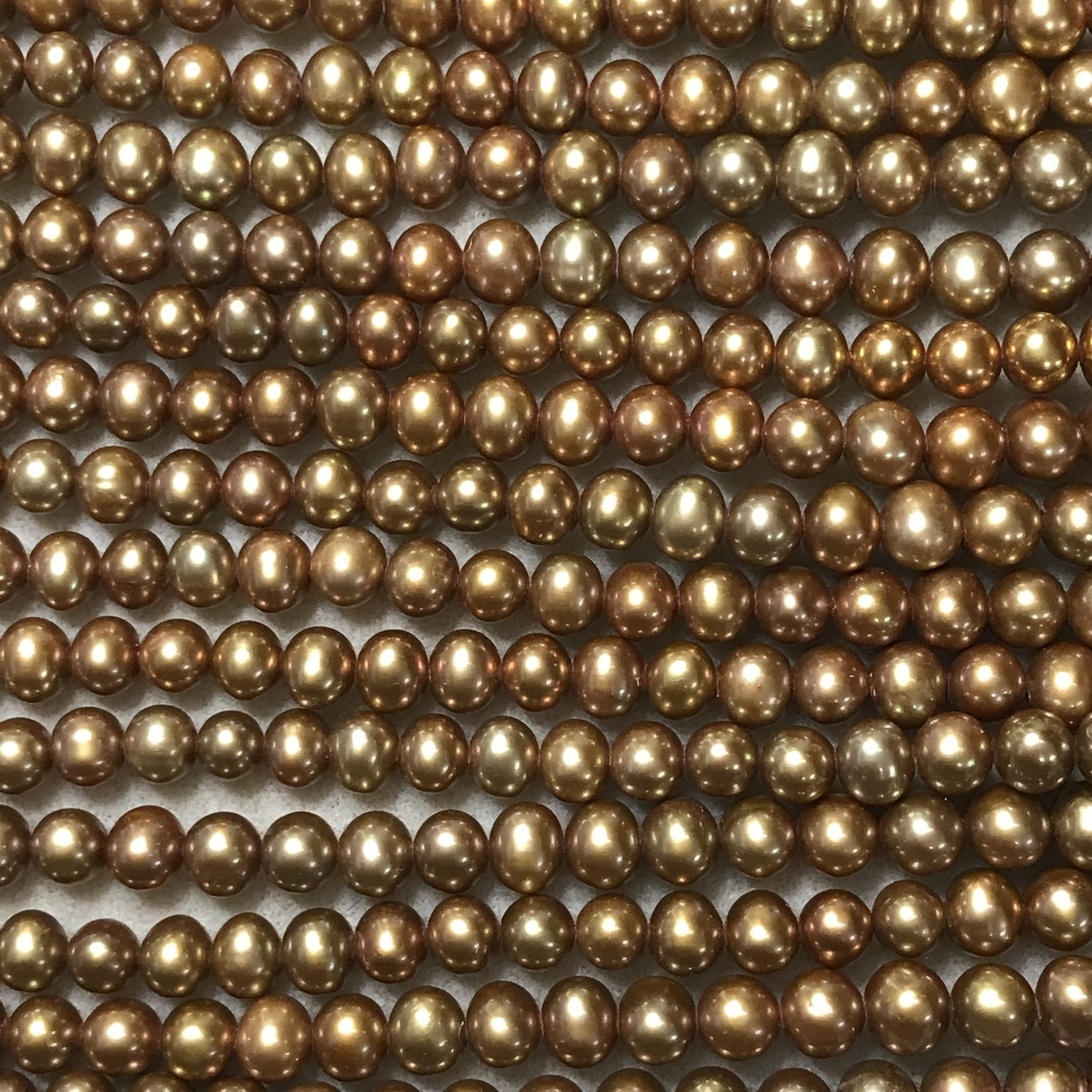 F/W PEARL Dyed Golden Copper 7mm Potato