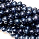 Fresh Water PEARL Navy Blue 7-8mm Potato