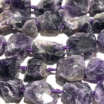 AMETHYST Rough Natural 18-35mm Nuggets 1/2 strand