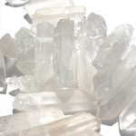 Natural Quartz Crystal Points Top-Drilled 1/2 Strand