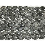 JASPER Grey Ovals 18x25mm 1/2 Strand