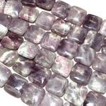 LEPIDOLITE (Natural) Square Beads 20mm 1/2 Str