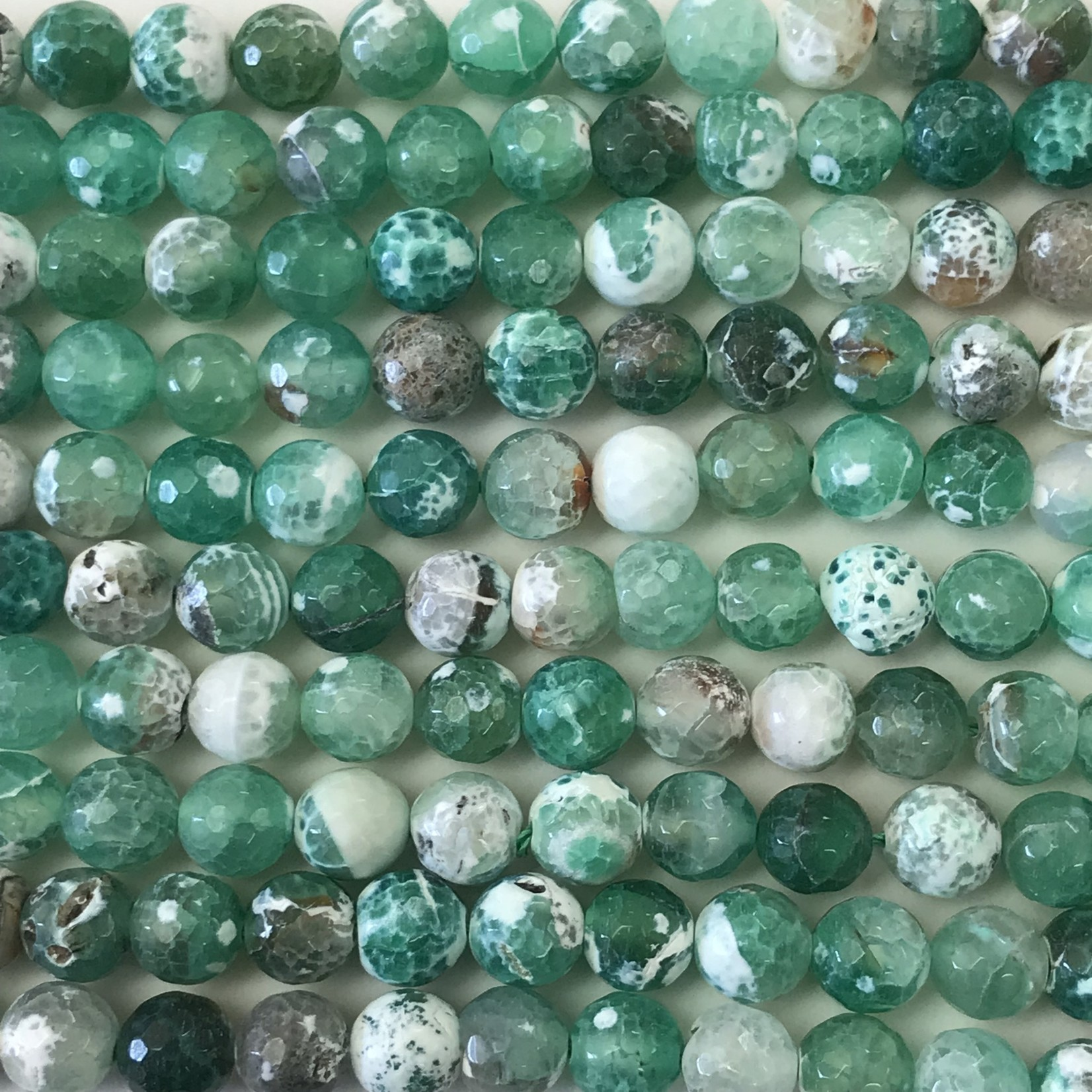 AGATE Natural Dyed Green 10mm Faceted