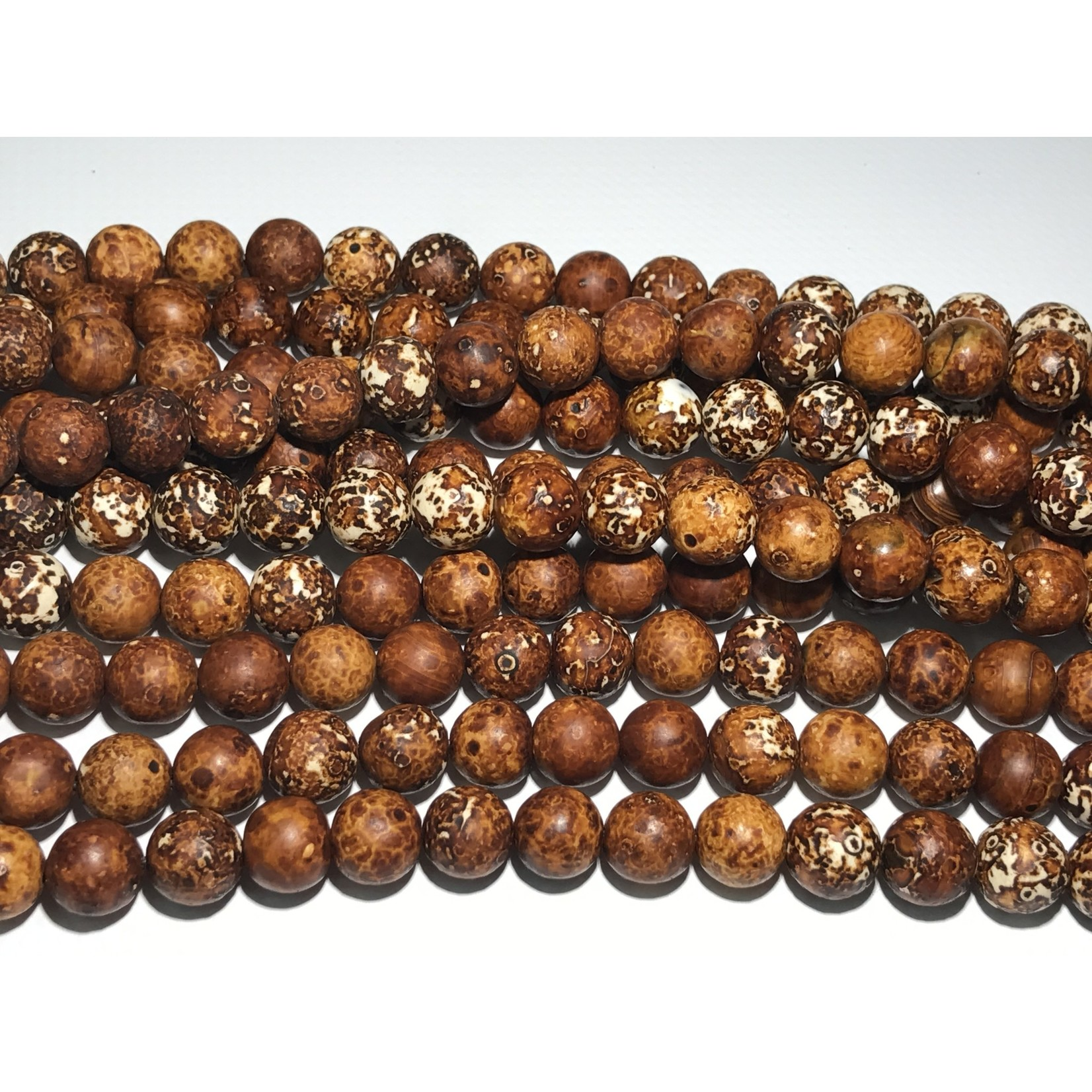 AGATE Clay Brown Treated 10mm