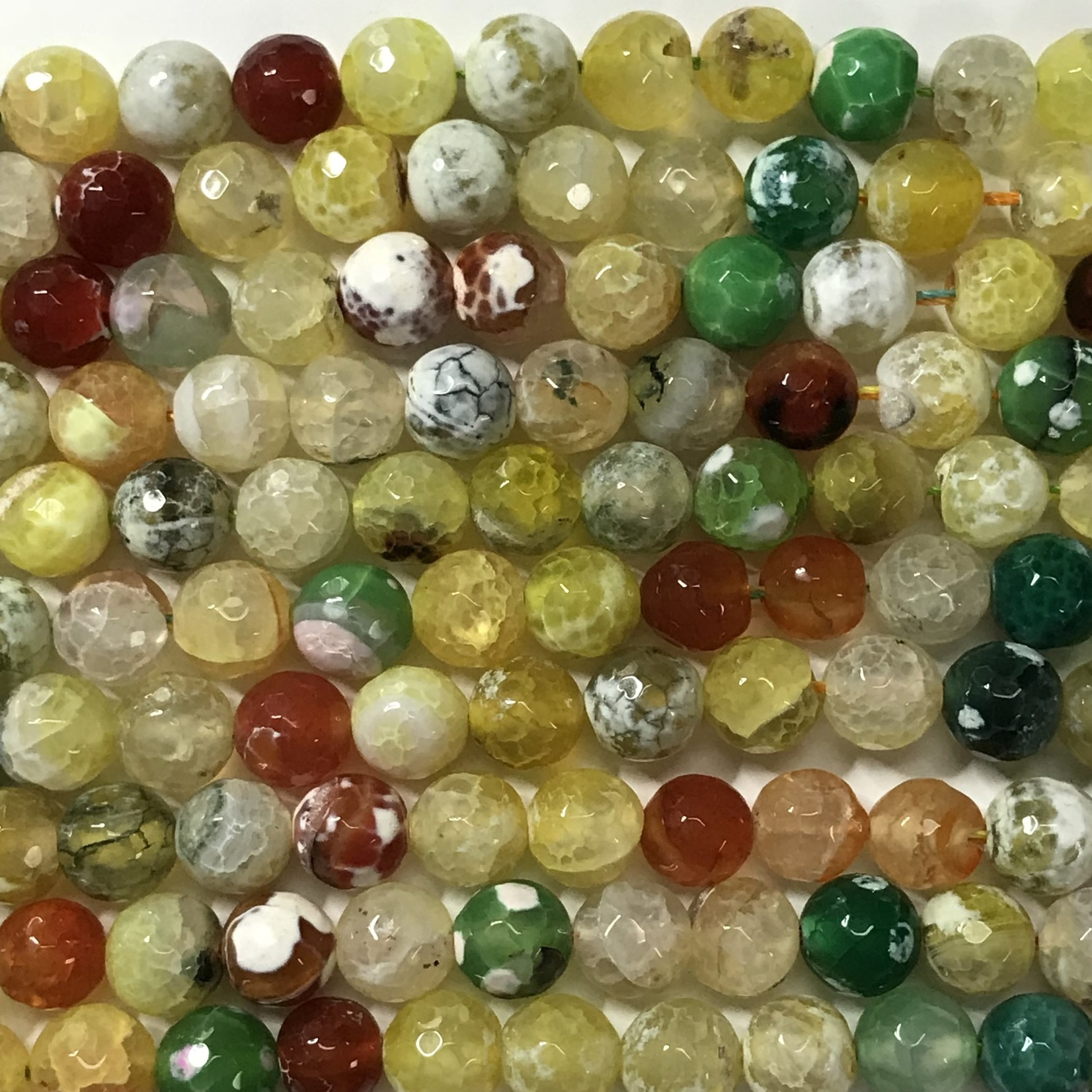 Agate Natural Spring Colours 10mm faceted