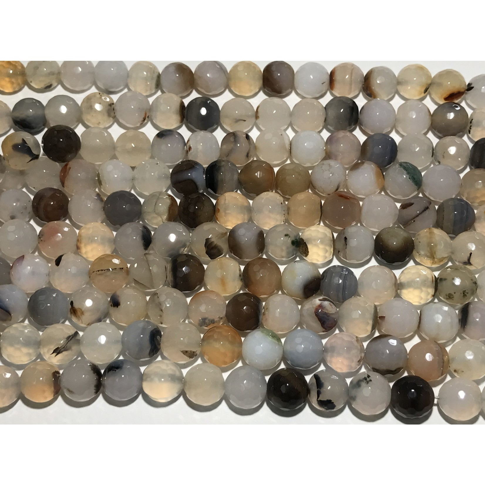 AGATE Shadow Natural 10mm Faceted