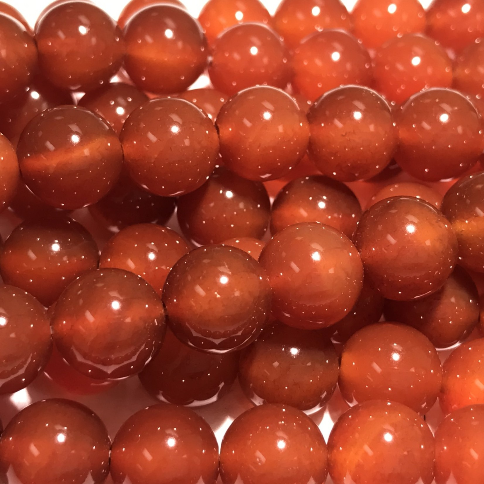 Agate Red (Carnelian) 10mm Round