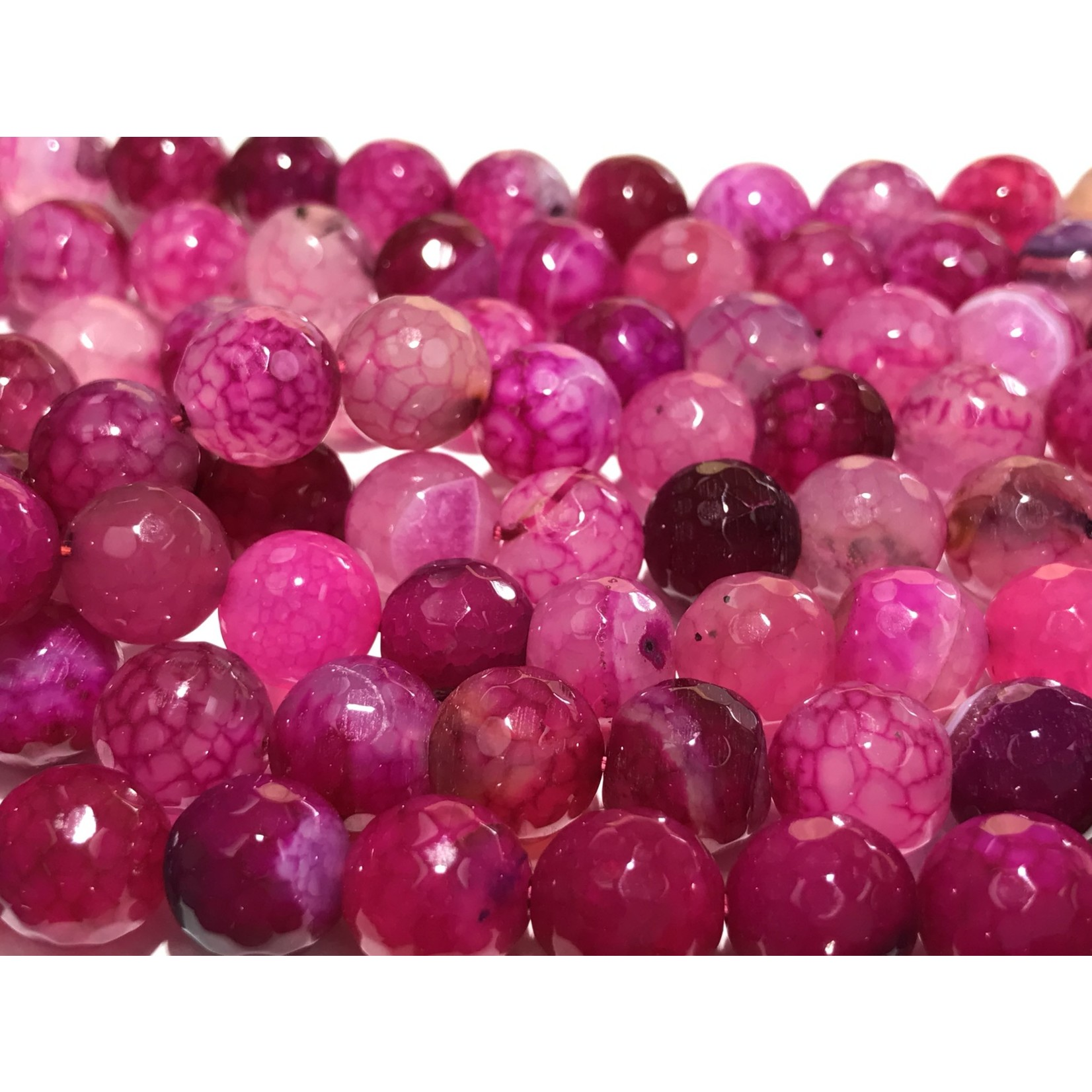 AGATE Pink Dyed 10mm Faceted